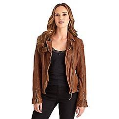 Joe Browns - Tan joe's signature leather jacket