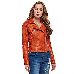 Joe Browns - Orange 'Joe's' leather jacket