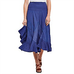 Joe Browns - Bright blue free flowing midi skirt