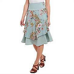 Joe Browns - Aqua layered floral skirt