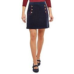 Joe Browns - Navy charismatic cord mini skirt