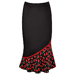 Joe Browns - Black cherry pie midi skirt