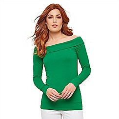 Joe Browns - Green Bardot Sleeve Top