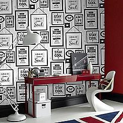 Fresco - Inspire Quotes Black & White Wallpaper