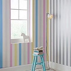Superfresco Easy - Girls Boys Cotton Candy Pastel Stripe Wallpaper