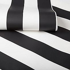Superfresco Easy - Monochrome black & white stripe wallpaper
