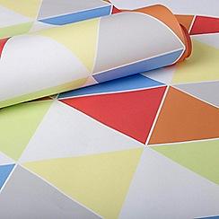Superfresco Easy - Harlequin multi coloured brights print wallpaper