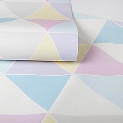 Superfresco Easy - Girls Harlequin Multi Coloured Pastels Print Wallpaper