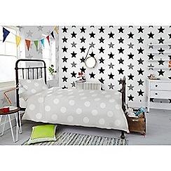 Superfresco Easy - Superstar black & white star print wallpaper
