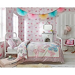 Superfresco Easy - Girls Kids Bedroom Nursery Pink & Purple Butterfly Print Wallpaper