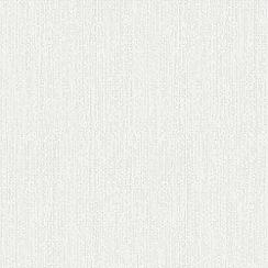 Superfresco - White Corrina Plain Textured Paintable Wallpaper