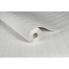 Superfresco Paintables - White Effie Textured Chevron Paintable Wallpaper