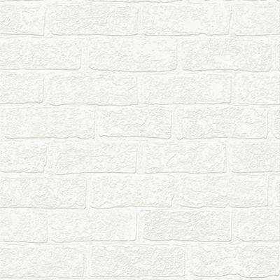 Superfresco   White Urban Brick Effect Paintable Wallpaper
