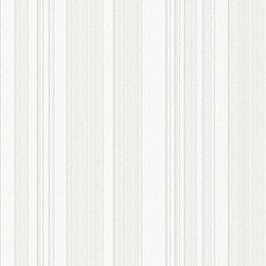 Superfresco - White Carrera Stripe Paintable Wallpaper
