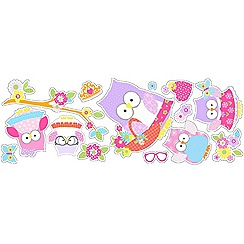 Graham & Brown Kids - Pink Olive The Owl Wall Stickers