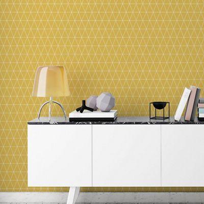 Superfresco Easy Mustard Triangolin Wallpaper