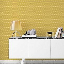 Superfresco Easy - Mustard Triangolin Wallpaper