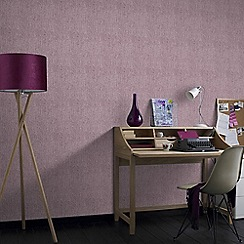 Superfresco - Matrix Purple Textured Plain Wallpaper
