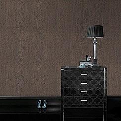 Superfresco - Matrix Chocolate & Bronze Textured Plain Wallpaper