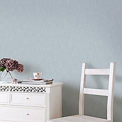 Superfresco - Vienna Blue & Silver Soft Vertical Stripe Wallpaper with Glitter Highlights