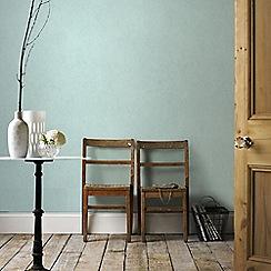Graham & Brown - Tranquil Aqua Blue Plain Natural Effect Wallpaper