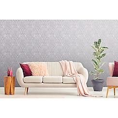 Boutique - Lilac Windsor damask wallpaper