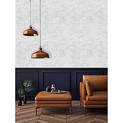 Boutique - Balmoral silver metallic textured plain wallpaper