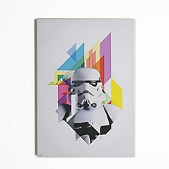 Star Wars - Neon Star Wars Abstract Storm trooper Printed Canvas Wall Art
