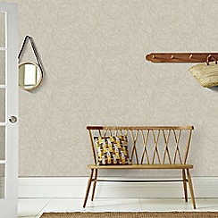 Graham & Brown - Taupe and Silver Twist Wallpaper