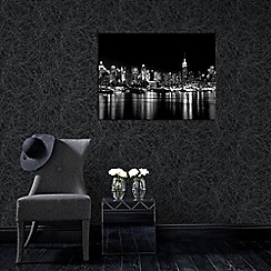 Graham & Brown - Charcoal and Silver Twist Wallpaper