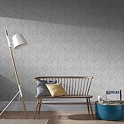 Graham & Brown - Silver Devore Wallpaper