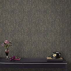Boutique - Charcoal and Champagne Devore Wallpaper
