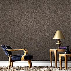 Boutique - Chocolate and Copper Cashmere Wallpaper