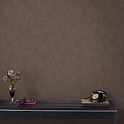 Graham & Brown - Vienna Bronze Stripe Wallpaper with Glitter Highlights