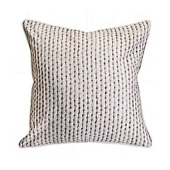 Graham & Brown - Chunky Knit Printed Cushion
