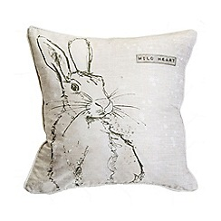 Graham & Brown - Printed Wild Heart Hare Cushion