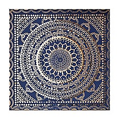 Graham & Brown - Blue embellished ink fabric wall art
