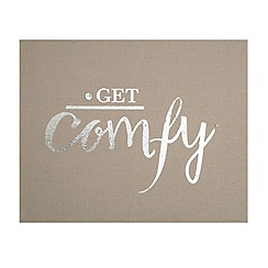 Graham & Brown - Get Comfy Embellished Fabric Wall Art