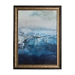 Graham & Brown - Blue Ink Abstract Framed Print Wall Art