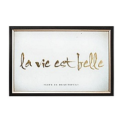 Graham & Brown - La vie est belle metallic framed print wall art