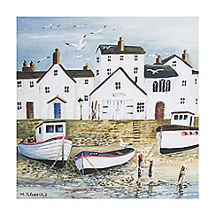 Art for the Home - Harbourside coastal scene printed canvas wall art
