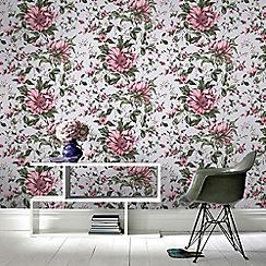 Fresco - Pink Botanical Floral Wallpaper