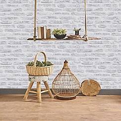 Superfresco Easy - White Paste The Wall Brick Effect Wallpaper