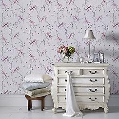Superfresco Easy - Lilac Songbird Paste The Wall Wallpaper