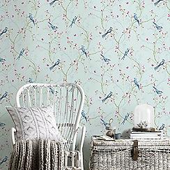 Superfresco Easy - Duck Egg Songbird Paste The Wall Wallpaper