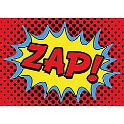 Graham & Brown Kids - Retro cartoon comic zap quote printed canvas wall art