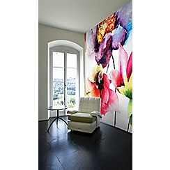 Graham & Brown - Summer Watercolour Flora Wall Mural