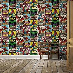 Marvel - Marvel Avengers Breakout Retro Wallpaper