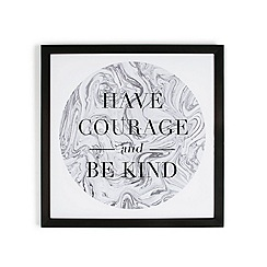 Graham & Brown - Grey Have Courage Quote Framed Print