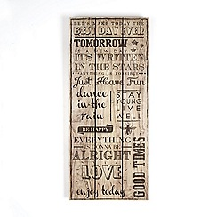 Graham & Brown - Brown best day ever quotes printed on wood